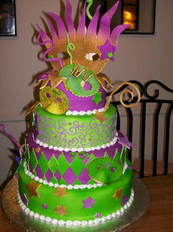 Mardi Gras Cake - Traditional Mardi Gras Foods