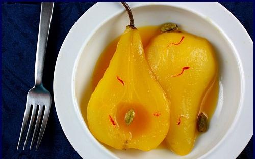 saffron pears