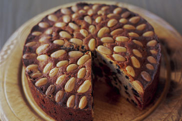 Dundee cake from Scottish menu