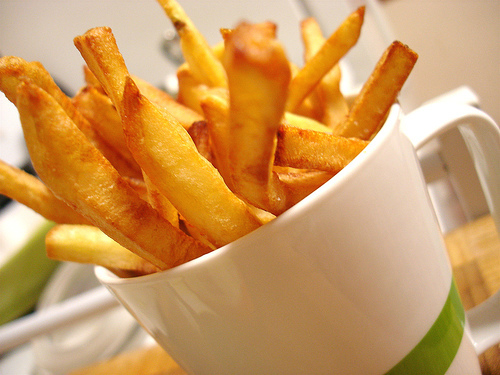 Reheat french fries effectively