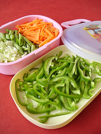 tips for storing chopped vegetables, to keep them flavorsome