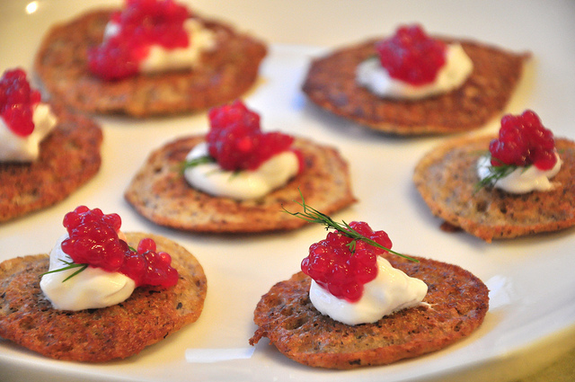Cheese Noodle Blini