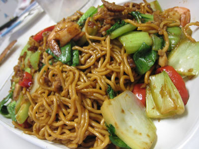 Hakka fried noodles from lunch menu