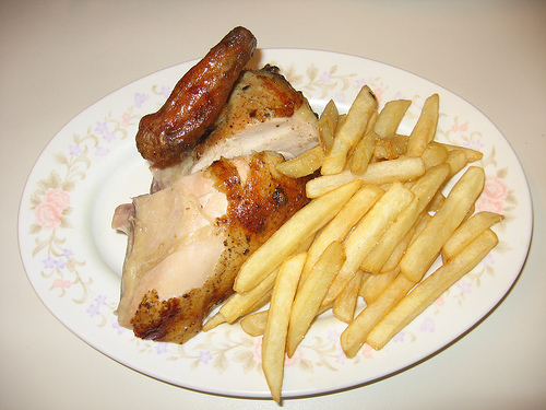 Poulet frites: perfect for the kids