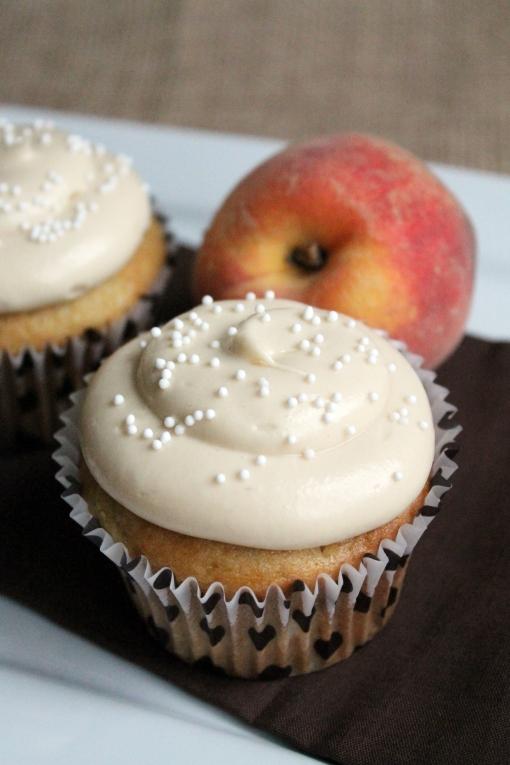 Peachy Pecan Cupcake