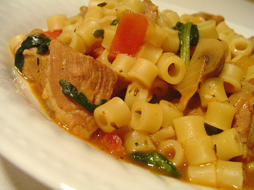 how to eat Ditalini and 'soup' in the delicious pasta