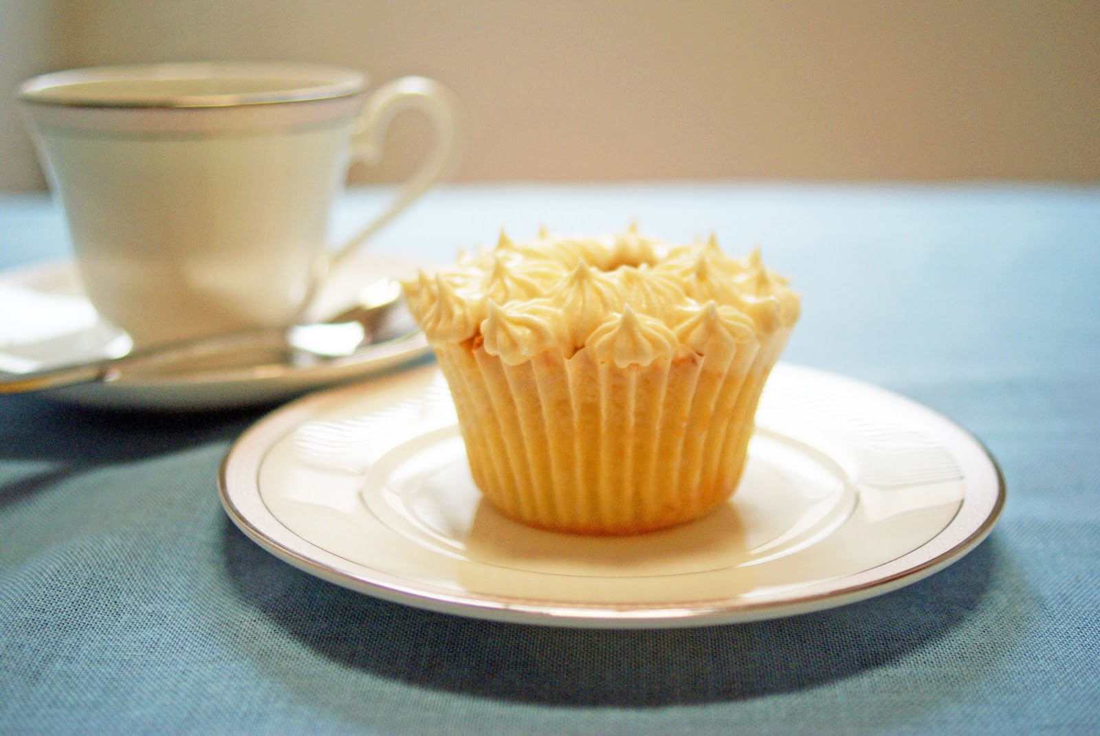Chocolate Buttermilk Cupcake With Butterscotch Frosting