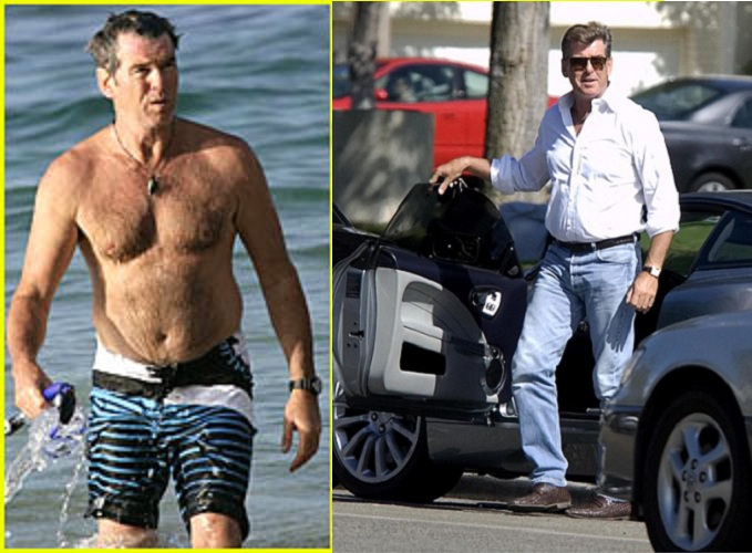 Pierce Brosnan Paunch