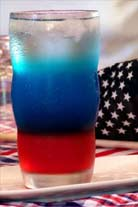 Refreshing 4th of July drink