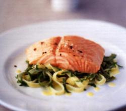 defrosting salmon