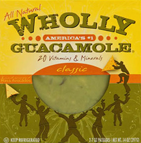 High-pressurized guacamole