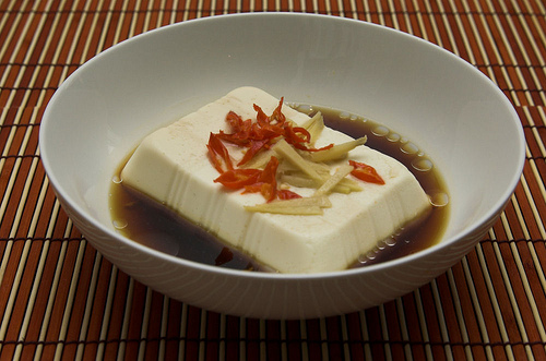 Delicious steamed tofu