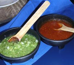 eating salsa