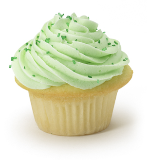 Vanilla Cupcake With Mint Julep Frosting