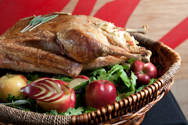 Christmas Goose with Transparent Spiced Apple