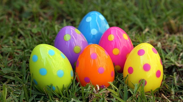 Plastic eggs filled with goodies