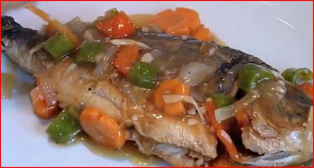 Escabeche filipino sweet and sour fish recipe video by for Sweet and sour fish recipe
