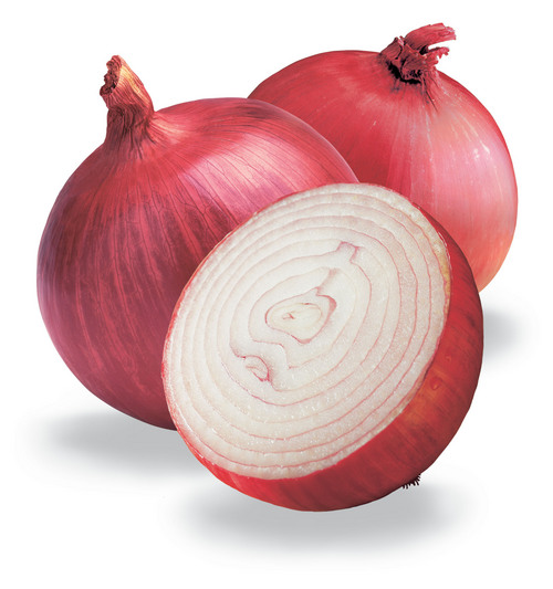 Fresh onions for steaming