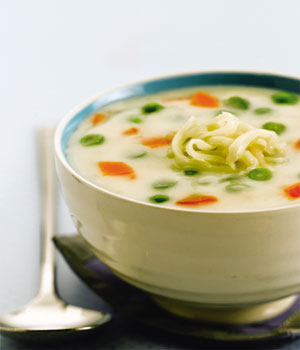 Cream of Vegetable Soup with Leftover Thousand Island Dressing