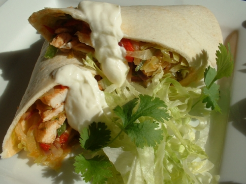 low-cal chicken fajitas