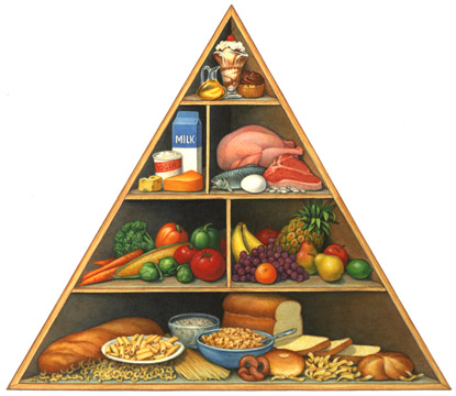 Food pyramid is a nutritional guide for all parents