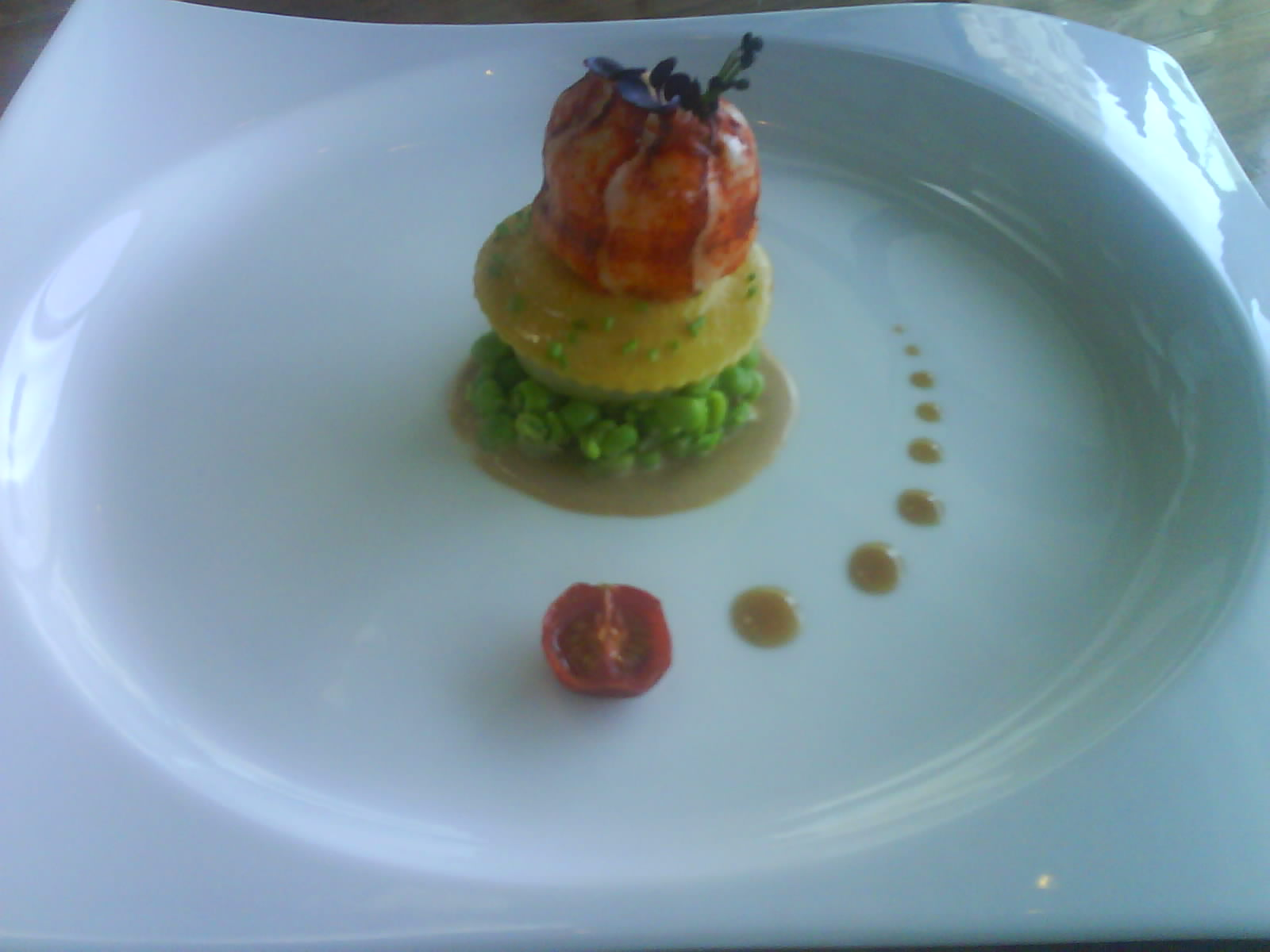 Butter Poached Canadian Lobster With Foie Gras Ravioli Recipe, Butter Poached Lobster by ...