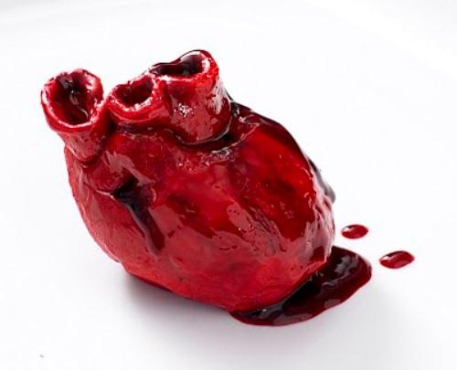 Human heart cupcake