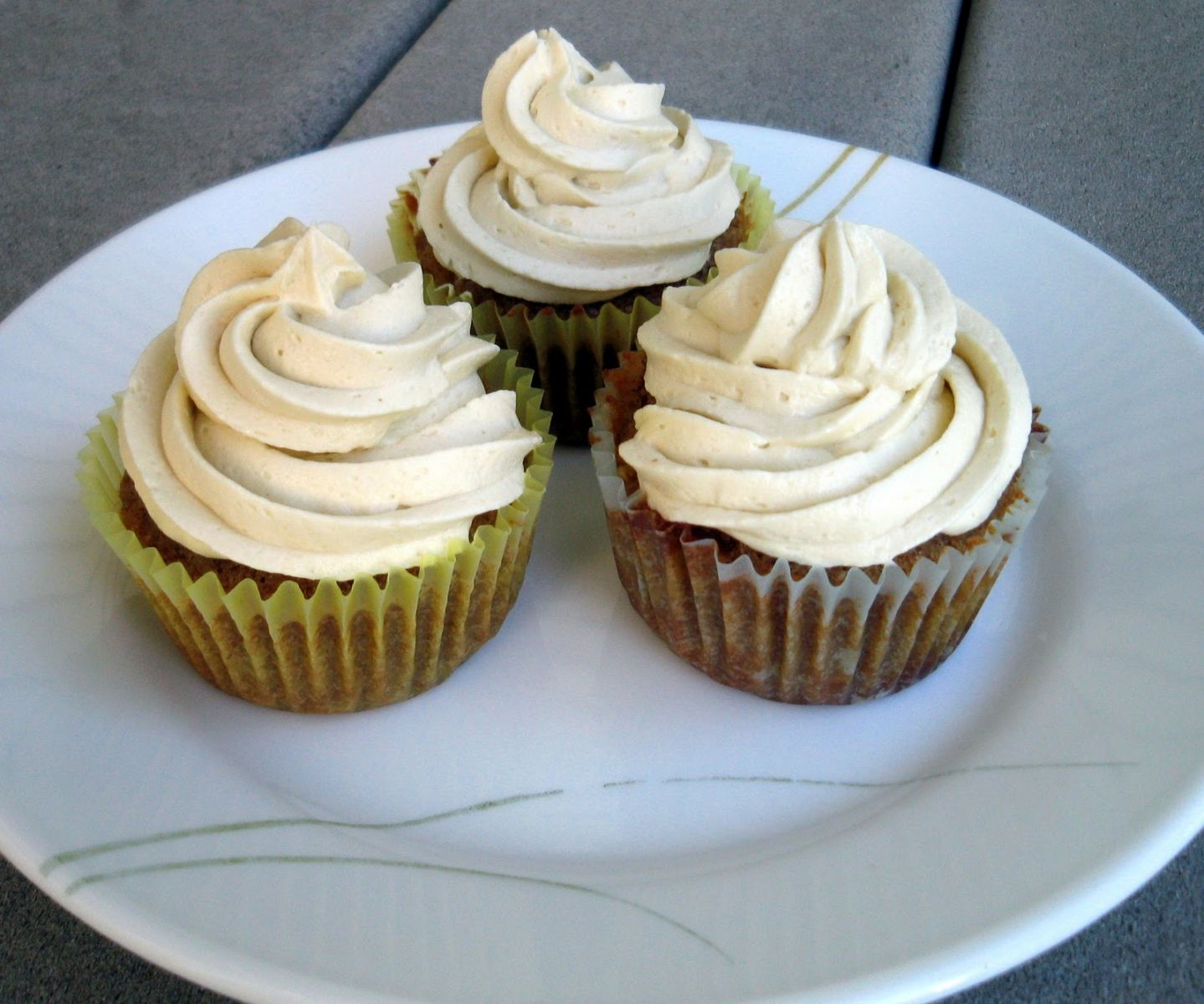Fig Cinnamon Cupcake With Honey Cream Cheese Frosting