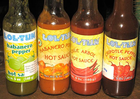 Mexican chili sauces prepared with toasted chilies