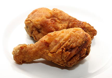 Perfectly reheated fried chicken