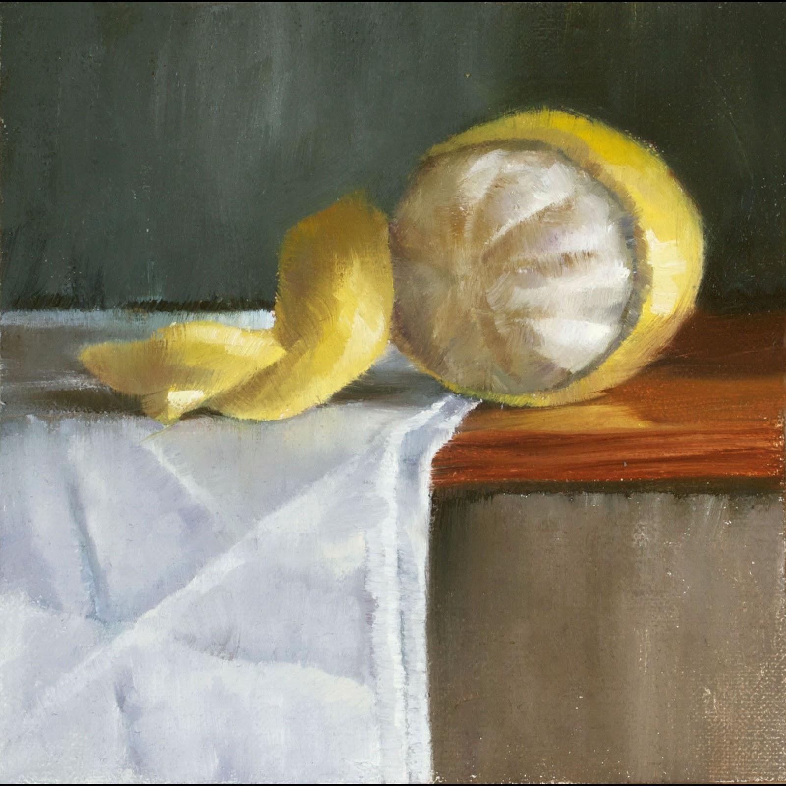 Peeled lemon can be stored