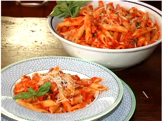 Penne With Mozzarella Eggplant Tomato Sauce Recipe by ...