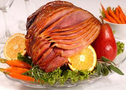 Christmas Apricot Glazed Ham