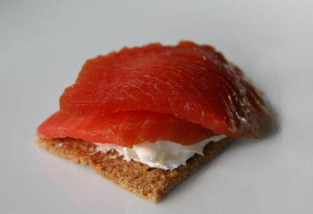 Smoked salmon - served with tasty and delicious sauce