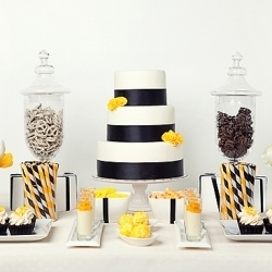 serving desserts
