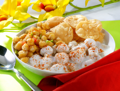 Punjabi snack -papdi chaat