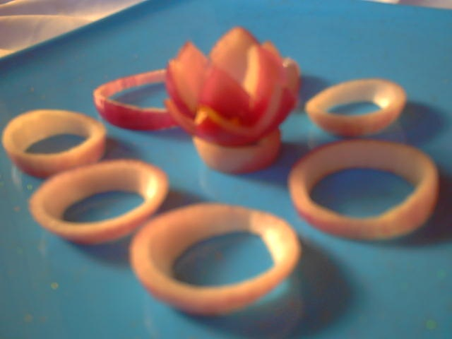 Onion Lotus Garnish