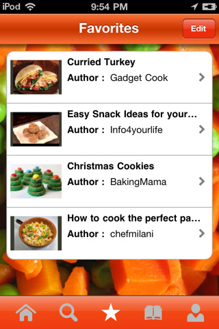 ifood.tv iphone app favorites playlist