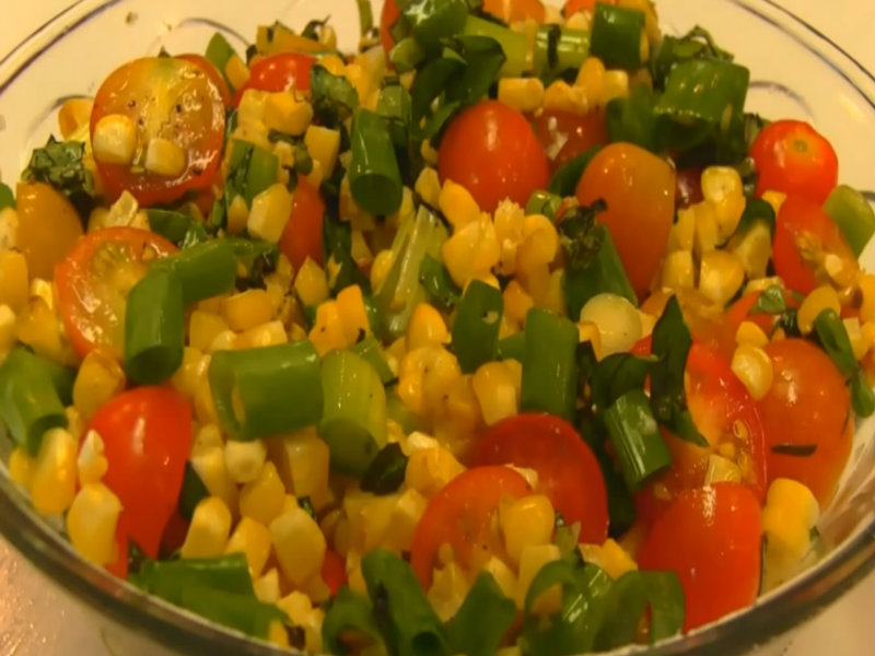 Betty's Roasted Corn And Tomato Salsa Recipe Video by Be..