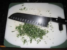 Cutting rosemary