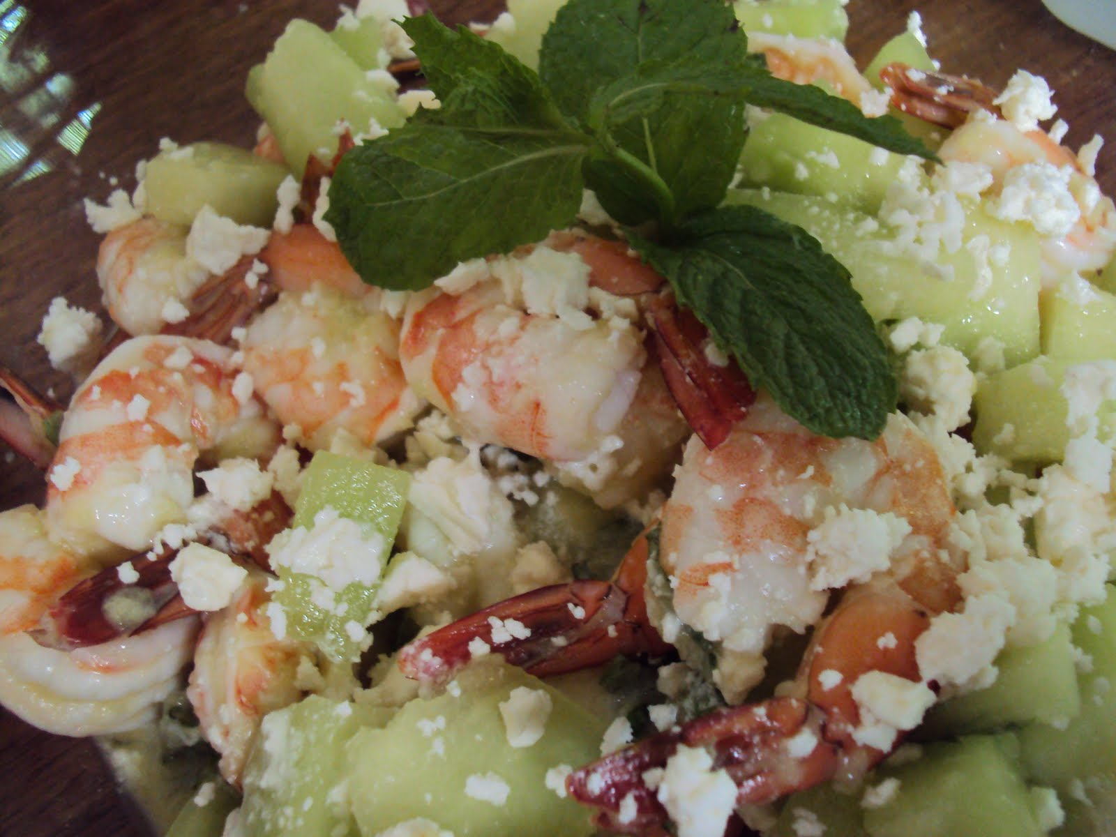 Shrimp And Honeydew Salad
