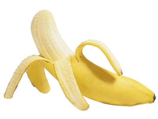 Peeled banana for storing