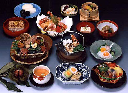 Elegant and delicious Kaiseki cuisine