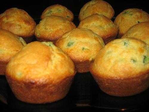Turkey Cheddar Cupcakes