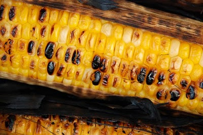 Corn steamed and ready to be eaten