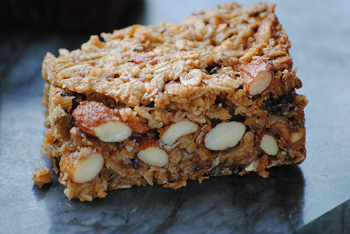 Chewy and crunchy bars