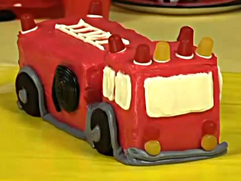 Cake Decorating How To Make Fire : Fire Truck Birthday Cake Decorating Ideas - How To Make A ...