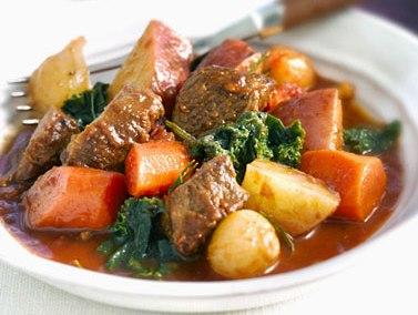 Mongolian crock pot rustic stew