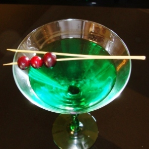 Cherry Olive Martini