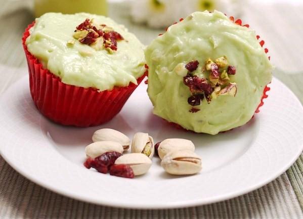 Cranberry Pistachio Cupcake